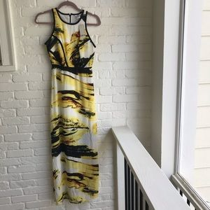 Bar III long maxi yellow dress XS new NWT